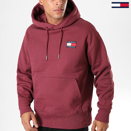 Tommy Hilfiger Jeans - Sweat Capuche Badge 6593 Bordeaux