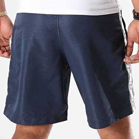 Sergio Tacchini - Short Jogging A Bandes Desil 38699 Bleu Marine Blanc