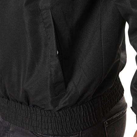 Sergio Tacchini - Veste Col Zippé Capuche Avec Bandes Dangel Noir