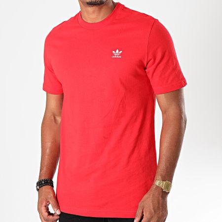 adidas Tee Shirt Essential FN2841 Rouge Blanc
