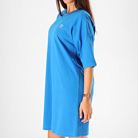 adidas - Robe Tee Shirt Femme Trefoil ED7578 Bleu Roi