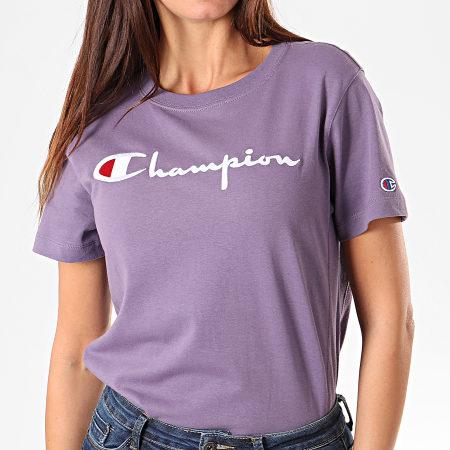 Champion - Tee Shirt Femme 110992 Violet