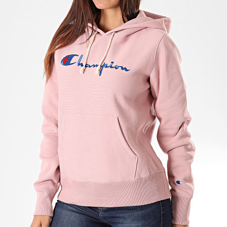 Champion - Sweat Capuche Femme 111555 Rose