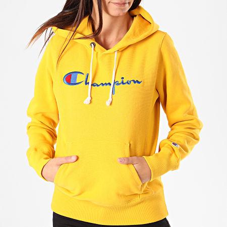 sweatshirt champion femme jaune
