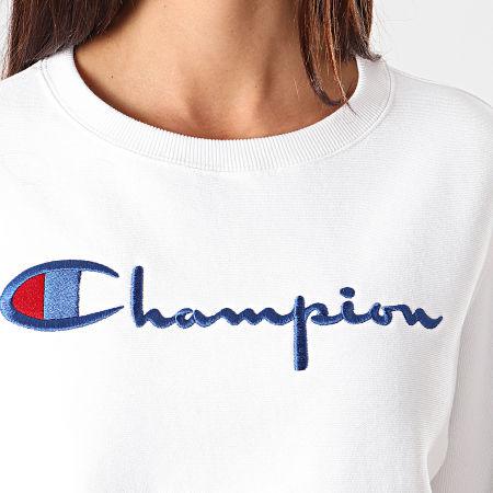 Champion - Sweat Crewneck Femme 112188 Blanc