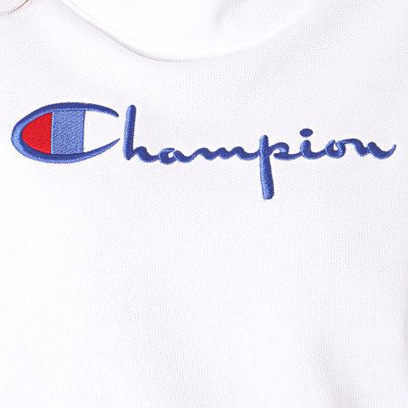 Champion - Sweat Capuche Femme Big Script 112552 Blanc