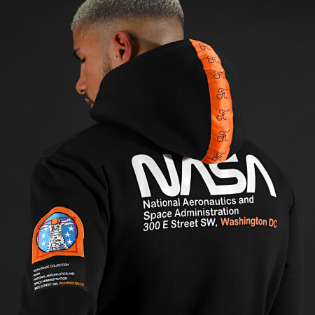 Final Club x NASA - Sweat Capuche Space Exploration Avec Patchs Et Broderie 287 Noir