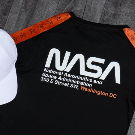 Final Club x NASA - Tee Shirt Space Exploration Avec Bandes Et Broderie 288 Noir