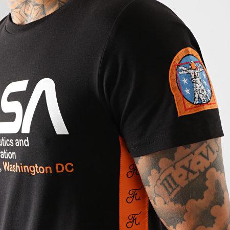 Final Club x NASA - Tee Shirt Space Administration Avec Bandes Et Broderie 289 Noir