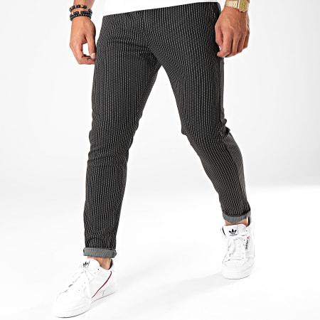 Aarhon - Pantalon A Rayures 19006 Noir