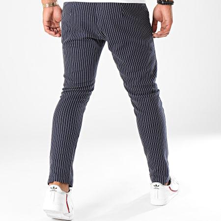 Aarhon - Pantalon A Rayures 19006 Bleu Marine