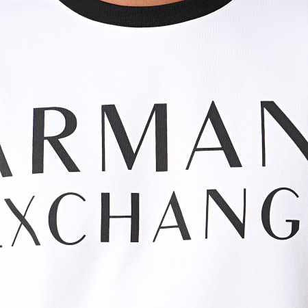Armani Exchange - Sweat Crewneck A Bandes 6GZM97-ZJ4DZ Blanc