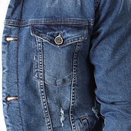 Black Needle - Veste En Jean A Col Mouton Bleu Denim