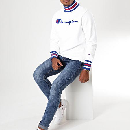 Champion - Sweat Col Montant 213698 Blanc