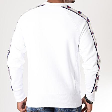 Champion - Sweat Crewneck A Bandes 213734 Blanc