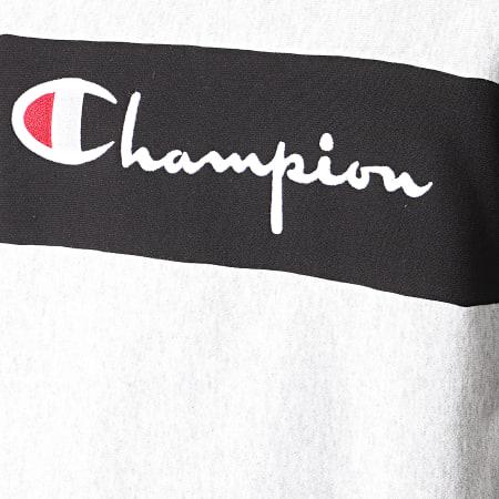 Champion - Sweat Crewneck Oversize 214049 Gris Chiné Noir