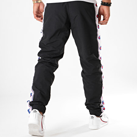 Champion - Pantalon Jogging A Bandes 214047 Bleu Marine