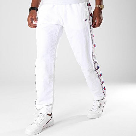 Champion - Pantalon Jogging A Bandes 214047 Blanc