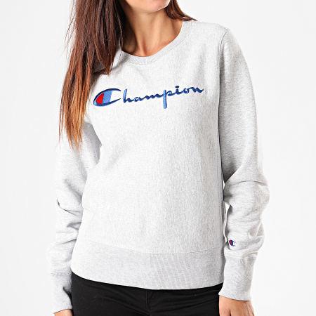 Champion - Sweat Crewneck Femme 112188 Gris Chiné