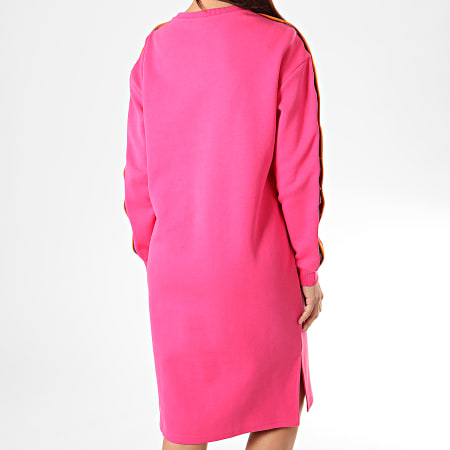 Fila - Robe Pull Femme A Manches Longues Avec Bandes Mitsuki 687256 Rose