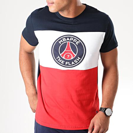 PSG - Tee Shirt Captain Flash Mbappé Bleu Marine Blanc Rouge