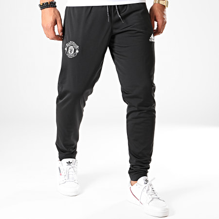 adidas - Pantalon Jogging Manchester United Icons DX9069 Noir Argenté
