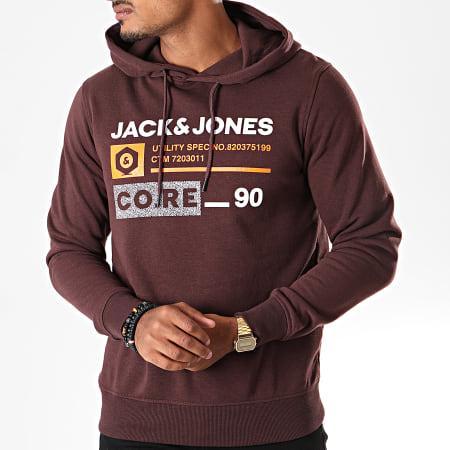 Jack And Jones - Sweat Capuche Jammin Bordeaux