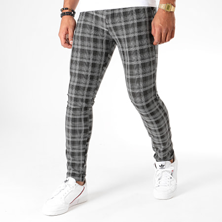 MTX - Pantalon Carreaux DJ504 Noir Blanc