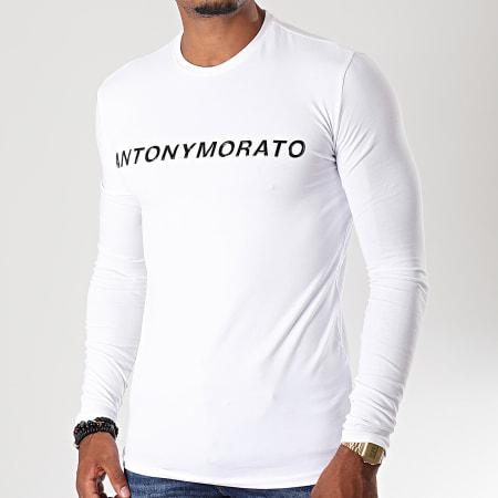 Antony Morato - Tee Shirt Manches Longues Abbigliamento MMKL0252 Blanc Noir