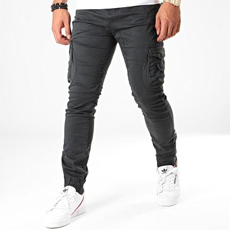Deeluxe - Pantalon Cargo Garden Noir