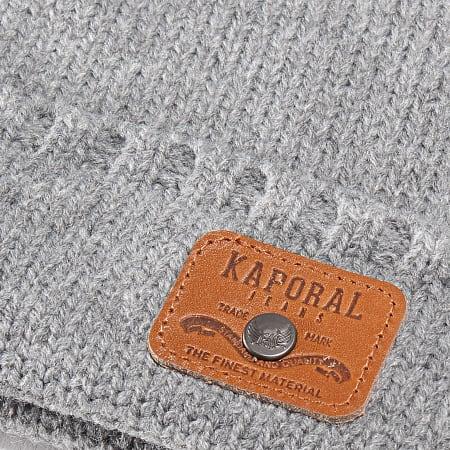Kaporal - Lot Bonnet Et Echarpe Gala Gris Chiné