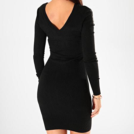 Kaporal - Robe Pull Femme Col V Xera Noir