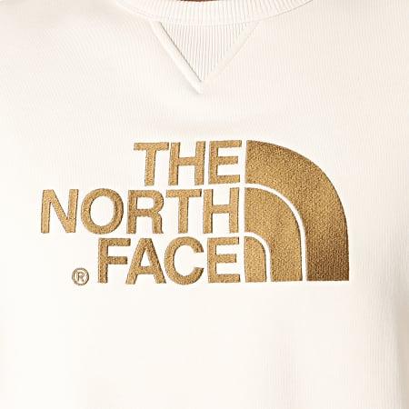 The North Face - Sweat Crewneck Drew Peak 2ZWR Blanc Cassé Marron