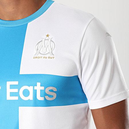 Puma - Tee Shirt OM Replica 755677 Blanc Bleu Ciel