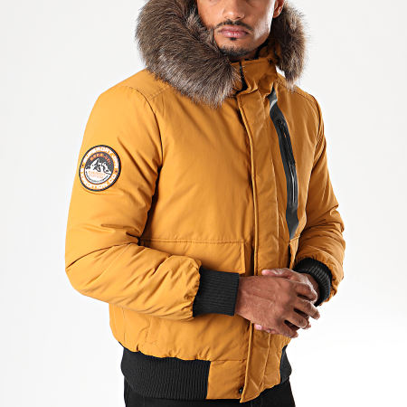 Superdry - Blouson Fourrure Everest M5000039A Jaune Moutarde