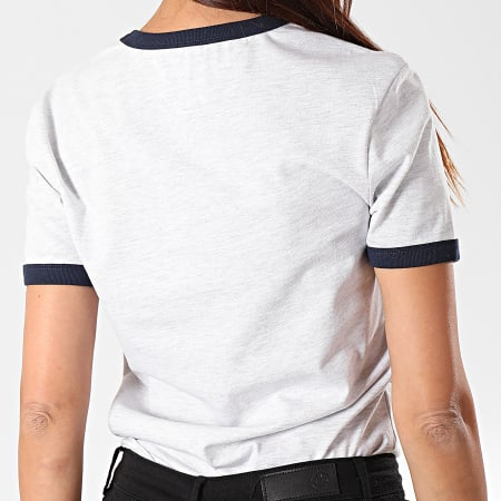 Tommy Hilfiger Jeans - Tee Shirt Femme Badge Ringer 7226 Gris Chiné
