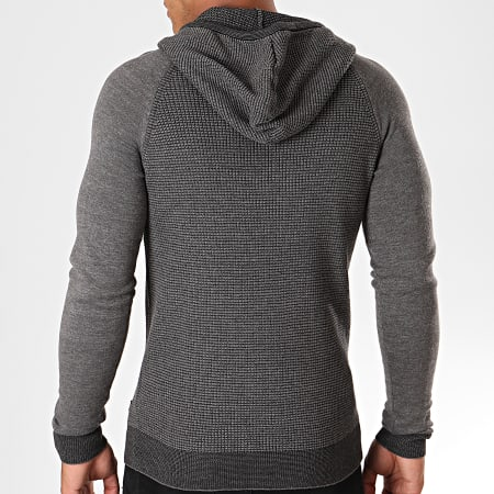 Blend - Sweat Capuche 20709063 Gris Chiné