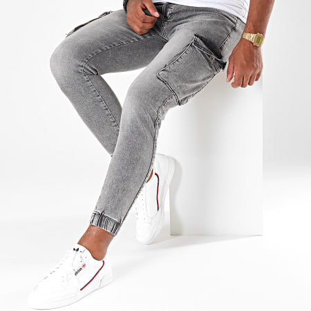 Cash Money - Jogger Pant Jean Slim 5005 Gris Chiné