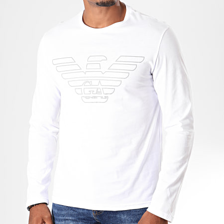 Emporio Armani - Tee Shirt Manches Longues 111287-9A578 Blanc