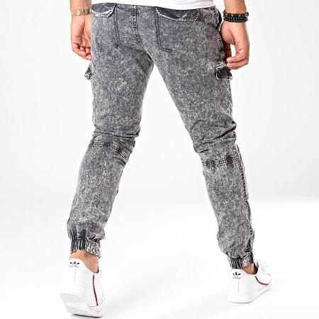 Indicode Jeans - Jogger Pant Jean Halfway 65-128 Gris Anthracite Chiné