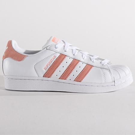 adidas - Baskets Femme Superstar EF9249 Footwear White Gloss Pink Core Black