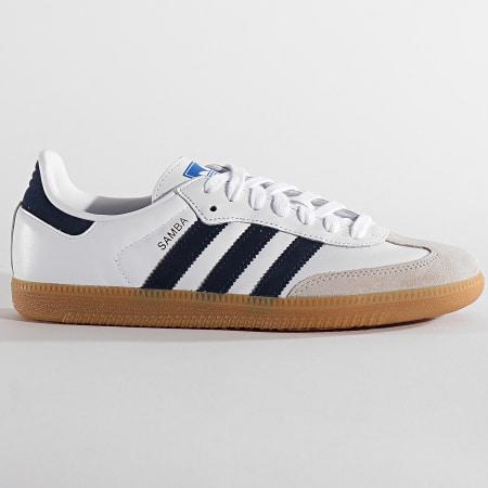 adidas - Basket Samba OG EE5450 Footwear White Collegiate Navy Blue