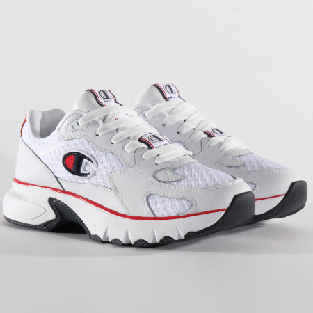 Champion - Baskets CWA-1 Mesh Leather S21205 White Red Blue