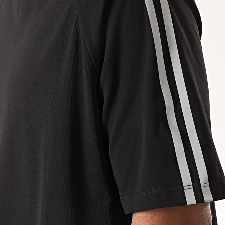 Terance Kole - Tee Shirt Réfléchissant A Bandes TK1073 Noir