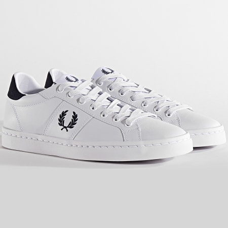 Fred Perry - Baskets Lawn Leather B6119 White