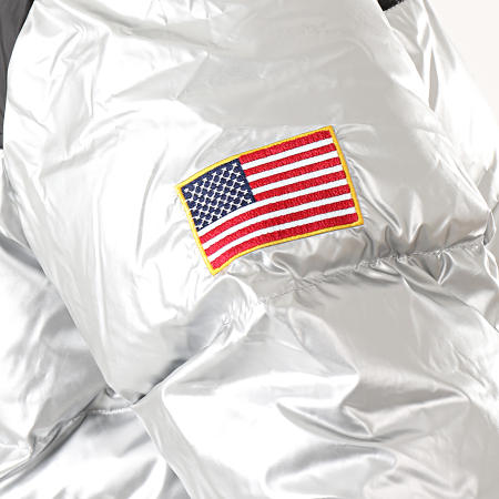 NASA - Doudoune Métallisée MT1119 Argenté Noir
