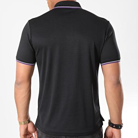 Sergio Tacchini - Polo Manches Courtes Reed 017 37382 Noir Violet Blanc