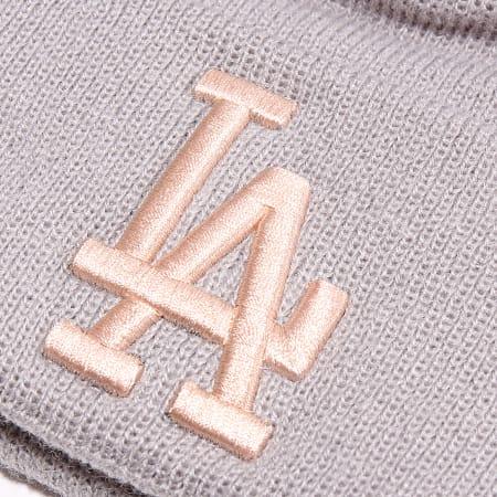 New Era - Bonnet Femme Double Pom Cuff 12040543 Los Angeles Dodgers Gris