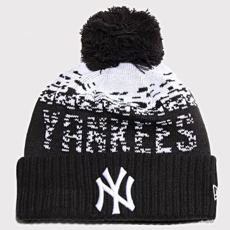 New Era - Bonnet Sport Knit 12040378 New York Yankees Noir Blanc