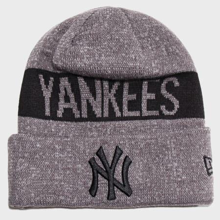New Era - Bonnet Marl Cuff Knit 12040406 New York Yankees Gris Chiné